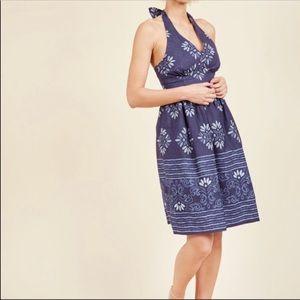 ModCloth Haute Happenstance A-Line Halter Dress 1X